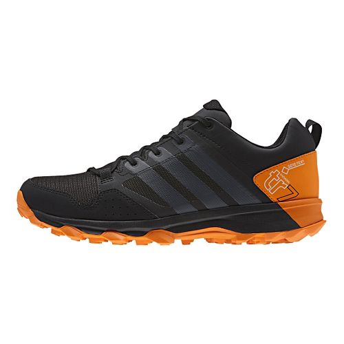 Mens adidas Kanadia 7 Trail GTX Trail Running Shoe - Black/Orange 10.5