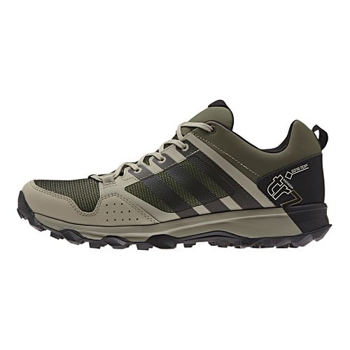 Mens adidas Kanadia 7 Trail GTX Trail Running Shoe - Green/Beige 10.5