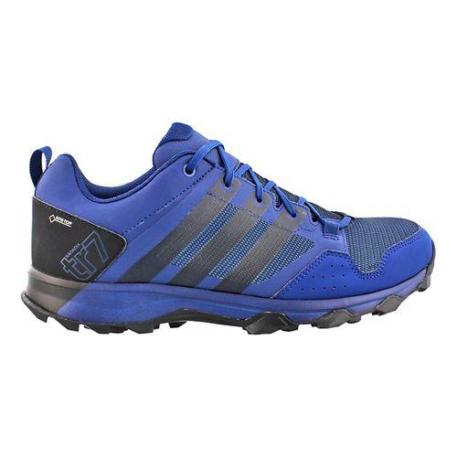 Mens adidas Kanadia 7 GTX Trail Running Shoe - Blue/Black 10.5