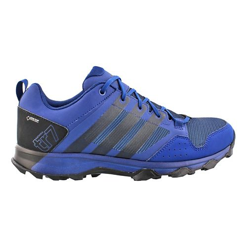 Mens adidas Kanadia 7 GTX Trail Running Shoe - Blue/Black 9.5
