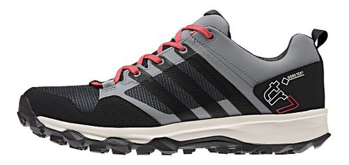 Womens adidas Kanadia 7 GTX Trail Running Shoe - Grey/Black 8.5
