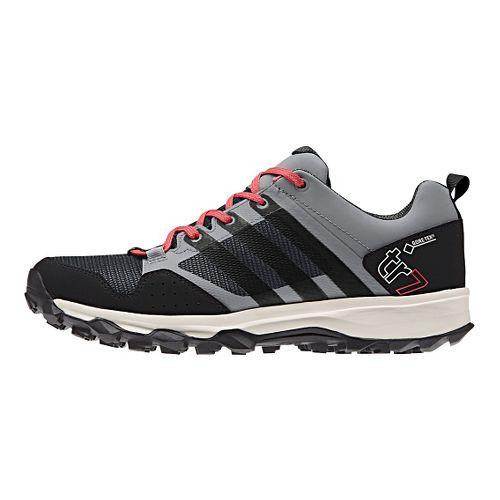 Womens adidas Kanadia 7 GTX Trail Running Shoe - Grey/Black 7.5