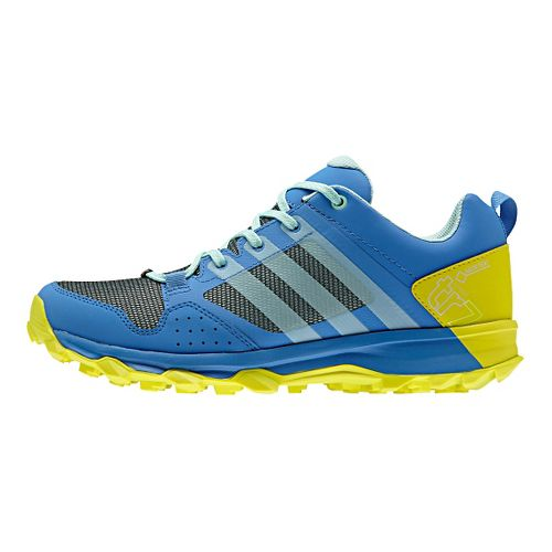 Womens adidas Kanadia 7 Trail GTX Trail Running Shoe - Blue/Slime 7.5