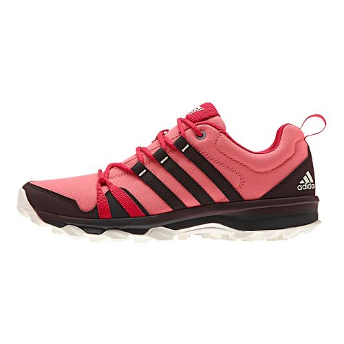 Womens adidas Tracerocker Trail Running Shoe - Blush/Ray Red 9.5