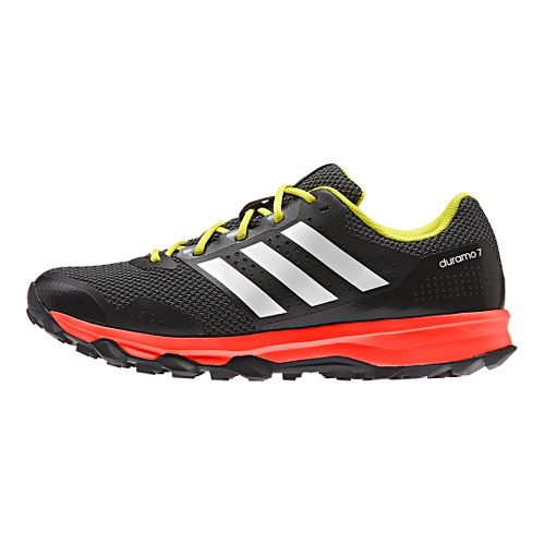 Mens adidas Duramo 7 Trail  Running Shoe - Black/Red 13