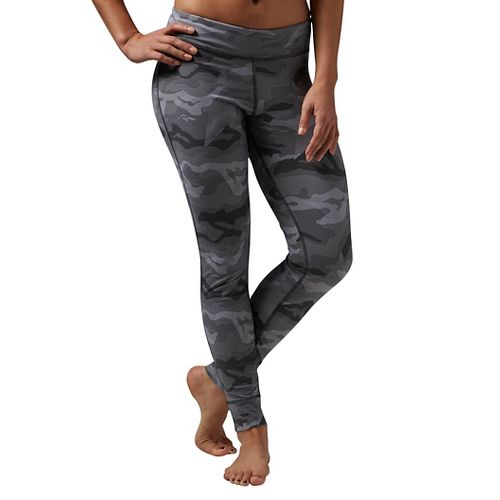 Womens Reebok One Series Camo Tights & Leggings Pants - Coal L