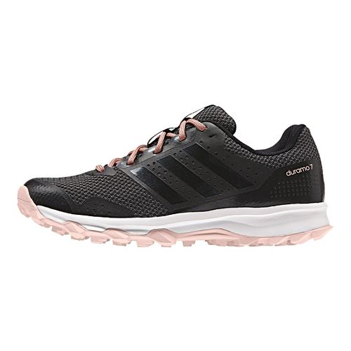 Womens adidas Duramo 7 Trail Running Shoe - Black/Pink 8.5