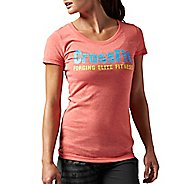 Womens Reebok CrossFit Graphic Crew F.E.F. Short Sleeve Technical Tops