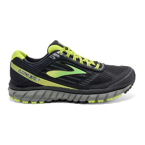 Mens Brooks Ghost 9 GTX Running Shoe - Black/Lime 11.5