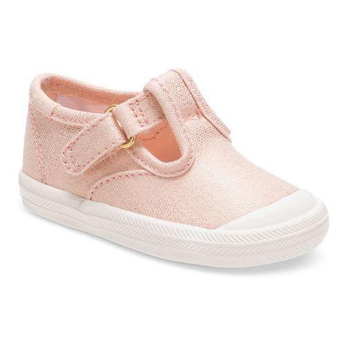 Keds Champion Toe Cap T-Strap Fashion Walking Shoe - Metallic Rose Gold 4C
