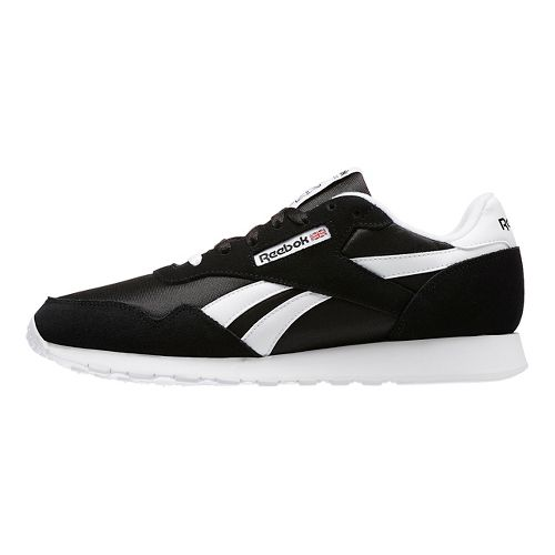 Mens Reebok Royal Nylon Running Shoe - Black/White 6.5