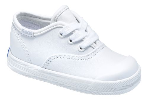 Kids Keds Champion Lace Toe Cap Classic Infant/Toddler Walking Shoe - White 5.5C