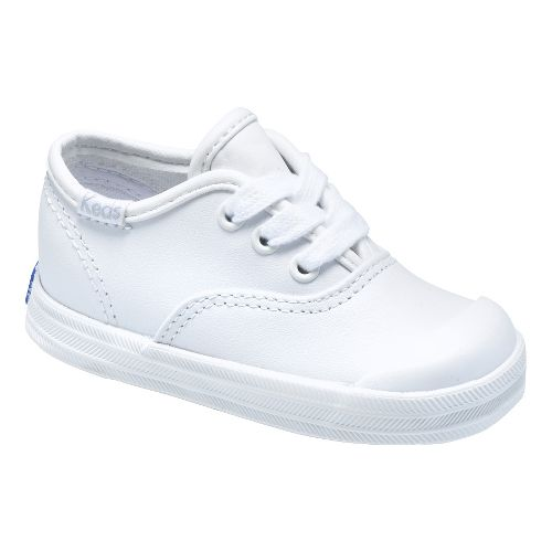 Kids Keds Champion Lace Toe Cap Classic Infant/Toddler Walking Shoe - White 4C
