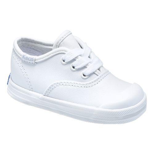 Kids Keds Champion Lace Toe Cap Classic Infant/Toddler Walking Shoe - White 4C