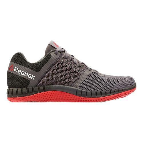 Mens Reebok ZPrint Run Running Shoe - Dark Grey/Red 9.5