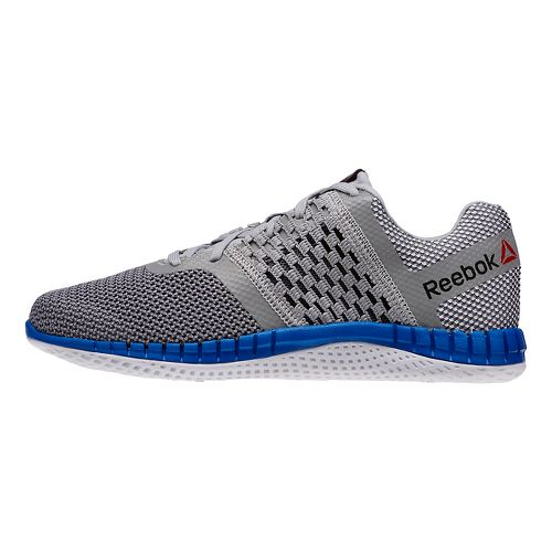 Mens Reebok ZPrint Run Running Shoe - Grey/Blue Sport 8.5