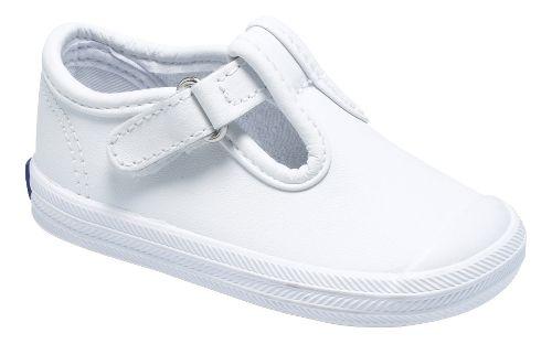 Kids Keds Champion Toe Cap T-Strap Classic Infant/Toddler Walking Shoe - White 2C