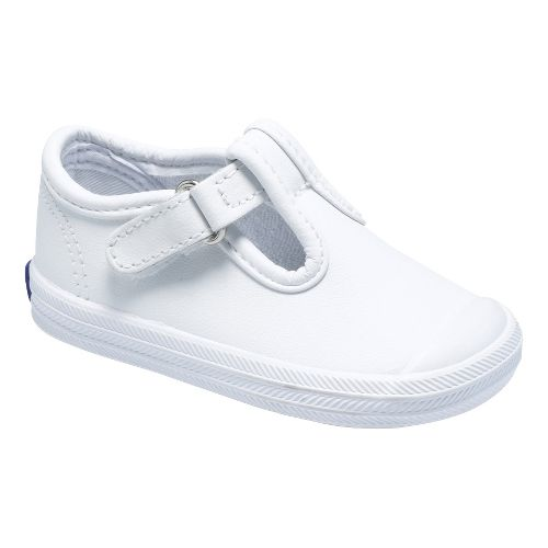 Kids Keds Champion Toe Cap T-Strap Classic Infant/Toddler Walking Shoe - White 4C