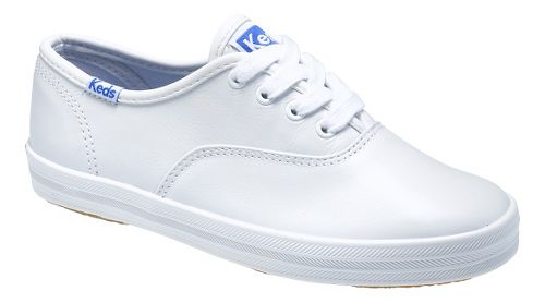 Kids Keds Original Champion CVO Classic Walking Shoe - White Leather 4Y