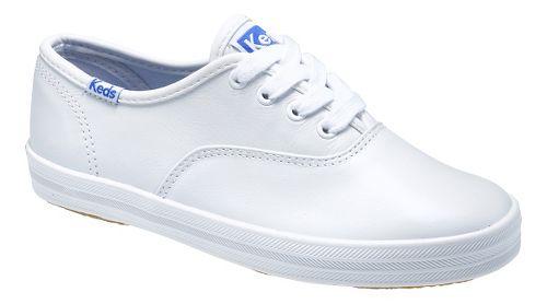 Kids Keds Original Champion CVO Classic Walking Shoe - White Leather 8.5C