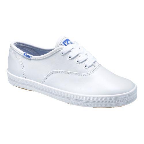 Kids Keds Original Champion CVO Classic Walking Shoe - White Leather 11.5C