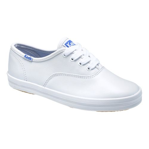 Kids Keds Original Champion CVO Classic Walking Shoe - White Leather 5.5C