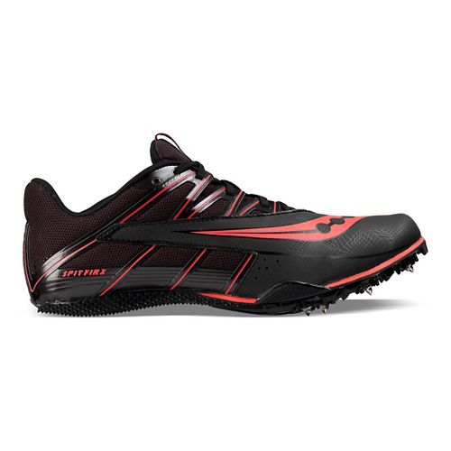 Saucony Spitfire 4 Track and Field Shoe - Black/Red 5.5