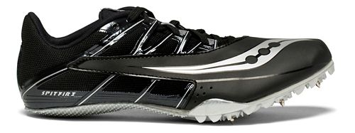 Saucony Spitfire 4 Track and Field Shoe - Black/Silver 6.5