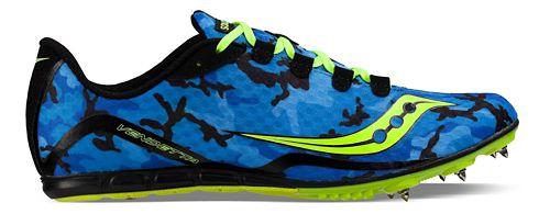 Saucony Vendetta Track and Field Shoe - Blue/Citron 10