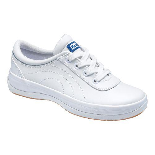Kids Keds School Days II Walking Shoe - White Leather 9.5C