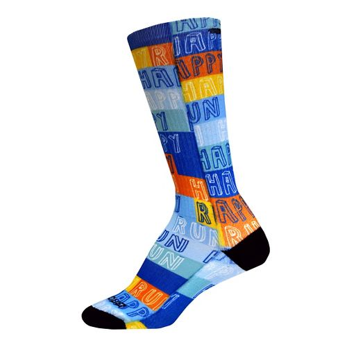 Brooks Pacesetter Run Happy Crew Socks - Multi M