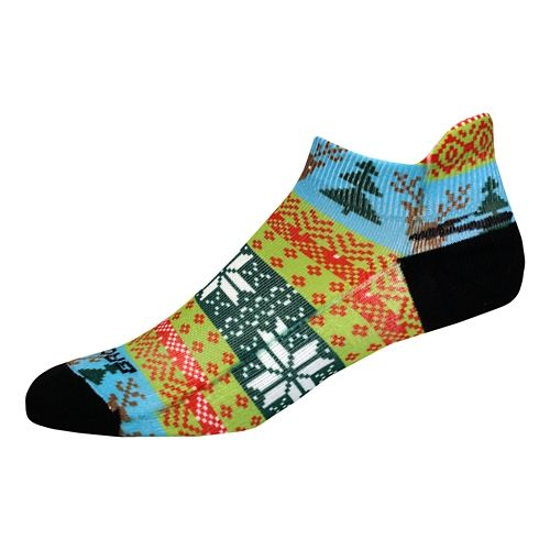 Brooks Pacesetter Ugly Sweater Tab Socks - Multi L