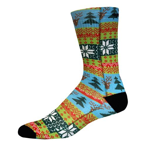 Brooks Pacesetter Ugly Sweater Crew Sock - Multi M