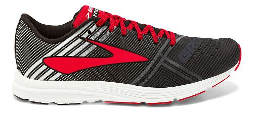 Mens Brooks Hyperion Racing Shoe - Black/White/Red 7.5