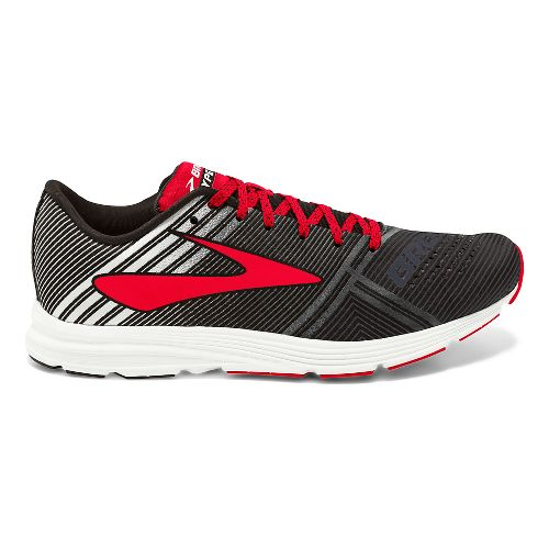 Mens Brooks Hyperion Racing Shoe - Black/White/Red 11.5