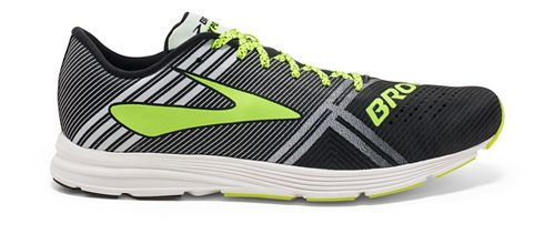 Mens Brooks Hyperion Racing Shoe - Black/White 10.5