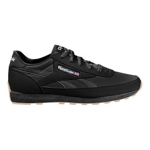 Mens Reebok Classic Renaissance Gum Running Shoe - Black/White 12