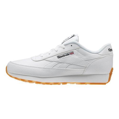 Mens Reebok Classic Renaissance Gum Running Shoe - White/Black 13