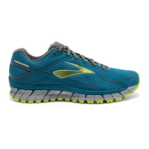 Mens Brooks Adrenaline ASR 13 Running Shoe - Safety Yellow/Blue 14