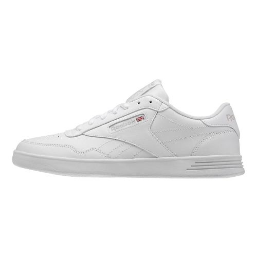 Mens Reebok Club MEMT Casual Shoe - White/Steel 8.5