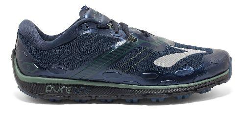 Mens Brooks PureGrit 5 Running Shoe - Blue/Green 13