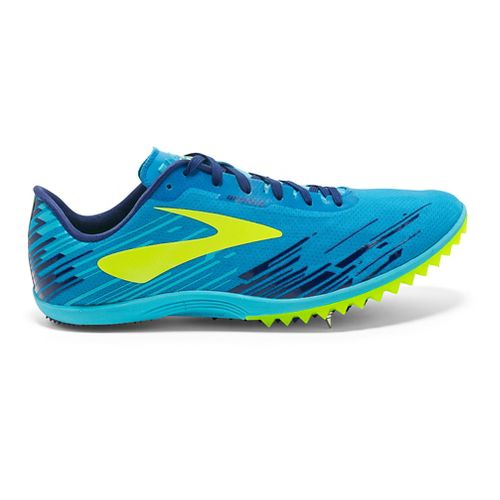 Mens Brooks Mach 18 Cross Country Shoe - Blue/Yellow 9.5