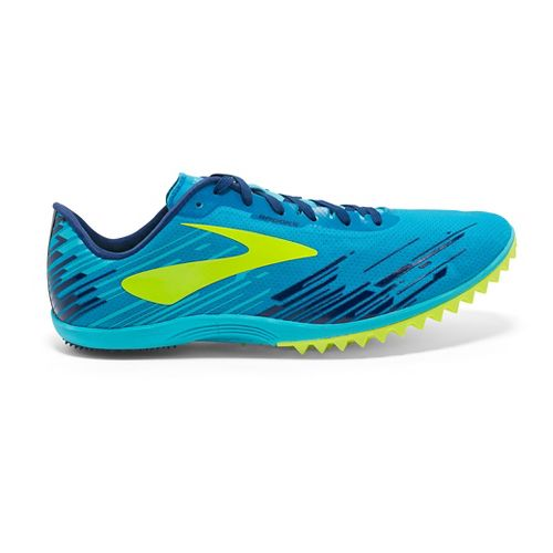 Mens Brooks Mach 18 Spikeless Cross Country Shoe - Blue/Yellow 12.5