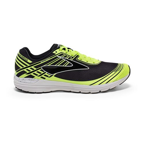 Mens Brooks Asteria Racing Shoe - Black/Safety Yellow 10