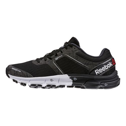 Womens Reebok One Cushion 3 Nite Running Shoe - Black/White 8