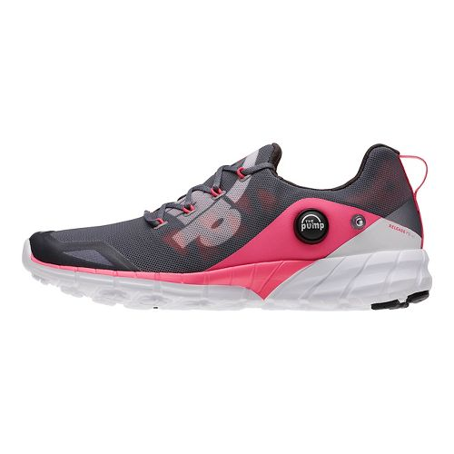 Womens Reebok ZPump Fusion 2.0 Running Shoe - Grey/Pink 8