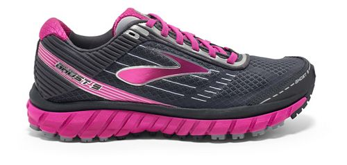 Womens Brooks Ghost 9 GTX Running Shoe - Grey/Pink 7
