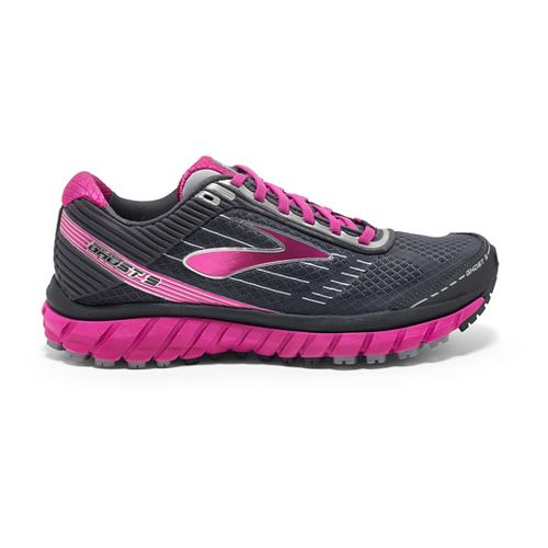 Womens Brooks Ghost 9 GTX Running Shoe - Grey/Pink 9