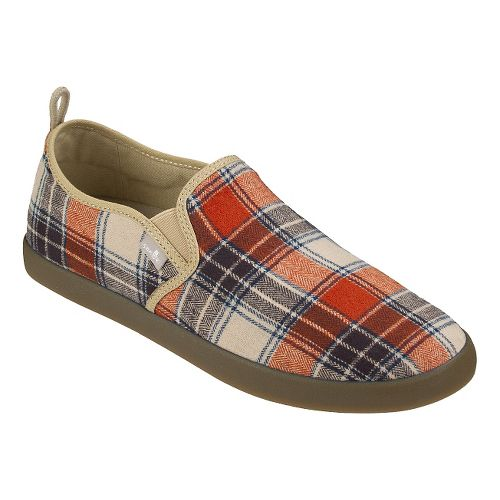 Mens Sanuk Range Plaid Casual Shoe - Rust Plaid 7