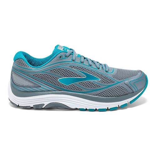 Womens Brooks Dyad 9 Running Shoe - Primer Grey/Capri 7.5